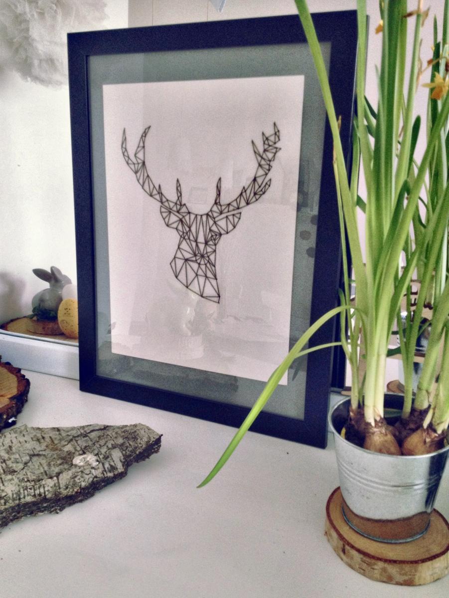 Geometryczne zwierzęta - plakat DIY