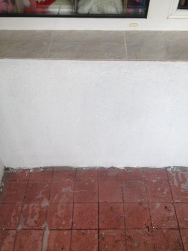 balkon umyte ściany