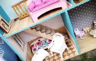 jarmark na nikiszu silexis drewniane mebelki dla lalek drewniana podłoga