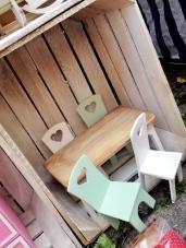 jarmark na nikiszu silexis drewniane mebelki dla lalek stół i krzeszła