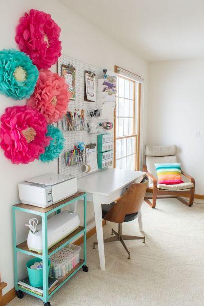 kolorowe kwiaty pokój nastolatka