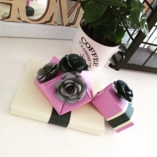 pakowanie prezentów papierowe kwiaty 2
