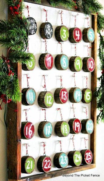 pastry drewna kalendarz adwentowy
