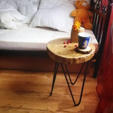 plastry drewna cocobolo stolik