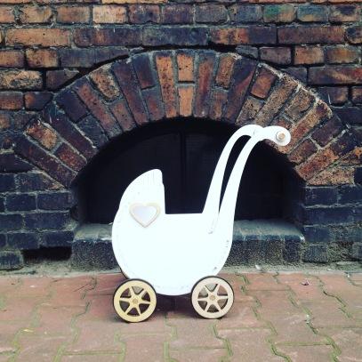 wózek retro dla lalek