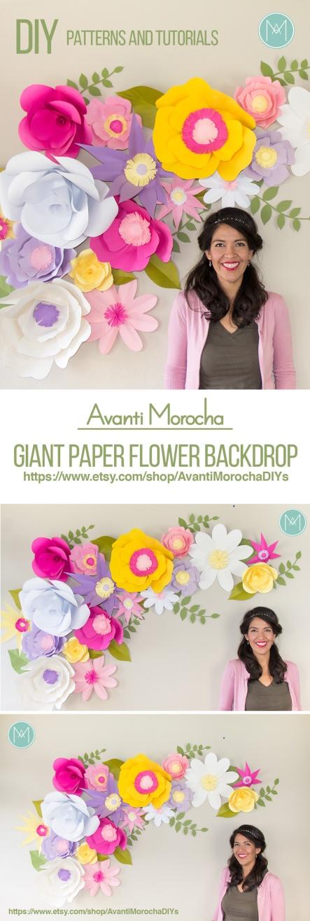 wielkie papierowe kwiaty AvantiMorocha