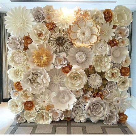 wielkie papierowe kwiaty ślub