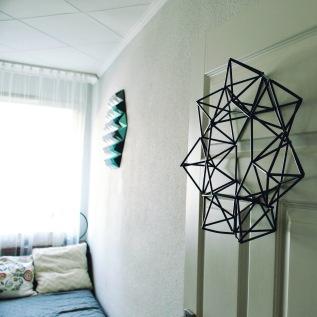 Geometryczna dekoracja ścienna