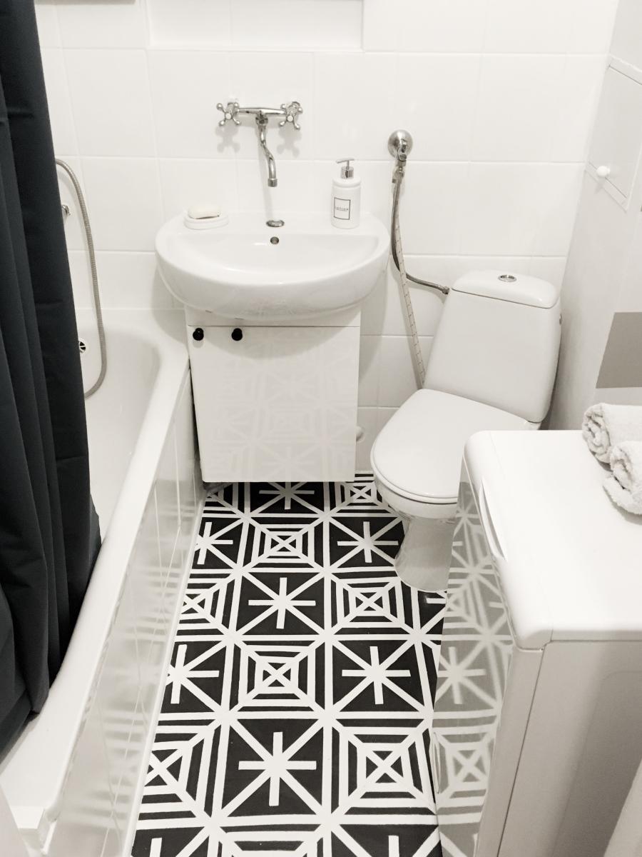 Projekt mieszkanie na wynajem -remont łazienki za niecałe 500 PLN